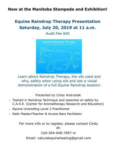 Equine Raindrop Therapy Manitoba Stampede